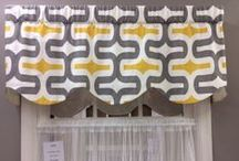 Geometric/Contemporary Valances/Window Treatments / Hand made in Virginia valances -- limited quantities and prints! Get them while you can.