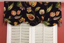 Floral Valances/Window Treatments / Hand made in Virginia valances -- limited quantities and prints! Get them while you can.