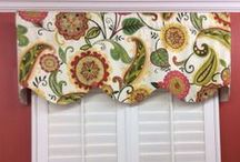 Paisley Valances/Window Treatments / Hand made in Virginia valances -- limited quantities and prints! Get them while you can.