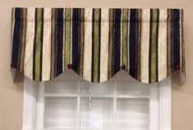Stripe & Chevron Valances/Window Treatments / Hand made in Virginia valances -- limited quantities and prints! Get them while you can.