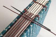 Bok :: Bindning med tråd / Longstich, koptisk och diverse andra ...