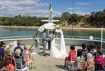 Hauraki Blue Weddings / Hold your wedding on board the cruise ship Ipipiri for an unforgettable day. Cruise the Hauraki Gulf and celebrate into the night with your guests. Find out more here: http://haurakibluecruises.co.nz/wedding-venue/