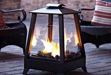 fireplace + stove