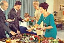 Retro Dinner Party Food / From rum baba to cheese 'n' pineapple hedgehogs - here's a round up of our favourite food blasts from the past, perfect for a 1960s or 1970s themed dinner party.