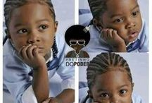 Braids for boys / These are simple protective styles that will look cute on babies, toddler and young boys with curly hair.