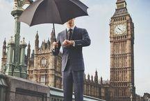 British gentleman at work / British gentlemen in a tie at work