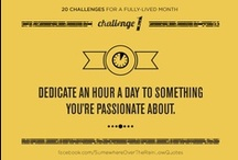 20 challenges for a fully-lived month