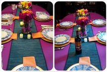 Table Scapes by C'est La Vie Design / A collection of different table scape decor ideas Ive come up with for a simple casual meal to a more formal affair. For more information, visit our blog link here: http://cestlavieevents.blogspot.com/