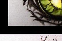 σχεδιο6 / Παράξενα και όμορφα ζωγραφισμένα σχέδια ματιών με πολλά και διαφορετικά χρώματα.