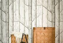 AI - Papier peint bois / arbres