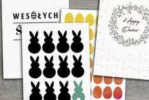 Happy Easter by Colour.me / Pocztówki wielkanocne - gotowe wzory do druku polecają się na Święta! #happy #easter #postcards #templates https://colour.me/pocztowka/szablony#e578738,c28