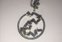 Gemma world / Jewelry with silver gold diamonds color stone