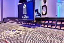 The Church Studios London Project / Paul Epworth's renovation of The Church Studios London - Incorporated products from Acoustic GRG inc: RPG BAD Panels, RPG BAD Expo Panels & Spigo Acoustic Wood  Studio Designers: WSDG   Studio Installers: Miloco Studios   Photos By: Adam Coupe Photography Limited #acoustics #recordingstudio #design #music