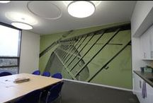 Greenfields Community Housing Project / A wide range of RPG Absorbers made and installed throughout the offices, reception and staff areas