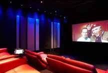 Project - Home Cinema / Working with Prestige Audio to come up with a design to include acoustic products for this private cinema.  Acoustic Products: RPG Absorbers & RPG BAD panels This Cinema won a Cedia Award in 2011. Photos by @adam coupe #acoustics #rpg #absorbers #badpanels #homecinema