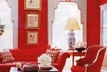 Decor - Reds/Oranges / Color Collages and Ideas for Home Decor