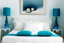 Decor - Blues/Teals / Color Collages and Ideas for Home Decor