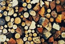 RUSTIC LOG STORES / Log store inspiration for storing firewood for those cosy winters by the fire.