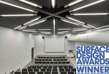 Surface Design Awards Winner 2016 / Acoustic GRG are delighted to announce our acoustic project is a WINNER in the Public Building Interior Surface category at The Surface Design Awards 2016: Winchester School of Art at Southampton University Our team of installers constructed the Clipso ceiling & wall panels as well as installing a range of acoustic wood panelling from the Spigo Group. We will be at #SDS16 on Stand 128
