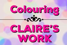 Colouring | Claire's Work / Some of my favourite colouring book illustrations I have coloured over the years :D