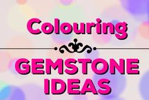 Colouring | Gemstone Ideas / Get tips on how to colour gemstones and draw fabulous settings