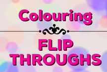 Colouring | Flip-Throughs / Flip-throughs of lots of adult colouring books