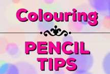 Colouring | Coloured Pencil Tips / Coloured pencil tips for adult colouring