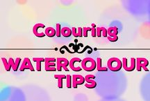 Colouring | Watercolour Tips / Watercolour tips for adult colouring
