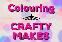 Colouring | Crafty Makes / How to make cool crafts with your coloured pages