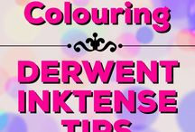 Colouring | Derwent Inktense / Tips, tricks & tutorials for colouring with Derwent Inktense in your adult colouring books & projects