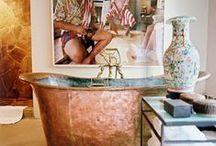 :: Bathrooms :: / Bathroom  Powder room  Cloakroom  En-suite  Bathtub  Toilet  Basin  Sink  Taps  Interior design  Interior decoration  Maison