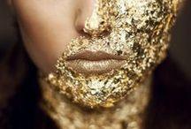 :: Gold :: / Gilt  Gilded  Gold  Brass  Glitter  Bright  Metallic  Shiny  Reflective  Design ideas  Decor  Interior design  Palette  Mood board  Inspiration  Color scheme