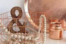 :: Copper :: / Copper  Tangerine  Orange  Rose gold  Metal  Metallic  Oxidized  Design ideas  Decor  Interior design  Palette  Mood board  Inspiration  Color scheme
