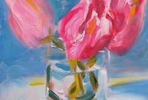 Paintings in Pink and Blue