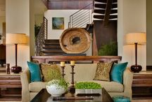 Warm modern / Modern interiors with texture , nod to traditional