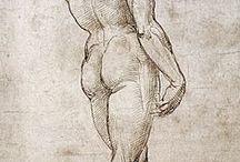 The Human Body / El cuerpo humano proporciones y medidas, movimiento e ideas para incorporar en cuadros.