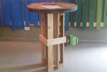 ETS - Upcycling pallets / Creaciones hechas de pallets. Marido en acción!
