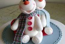 Fimo Navidad / Figuras navideñas realizadas en arcilla polimerica (fimo)