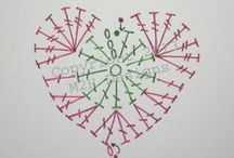 Crochet - Hearts / Corazones al Crochet