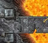 RPG Battle Maps / High detail battle maps for D&D / Dungeons and Dragons, Pathfinder, and tabletop RPGs. Print ready, and simple to use on online platforms like roll20.  Every map comes with night and gridless version too.