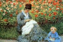 IMPRESIONISMO /  Édouard Manet fue el precursor de este movimiento. Se desarrolló al aumentar el interés de los pintores por estudiar los efectos de la luz sobre los objetos -cómo la luz da color a las sombras y disuelve los contornos de los objetos- Se aplanan las figuras y neutralizan las expresiones emocionales. Pincelada libre e imprecisa, amplios parches de color yuxtapuestos sin transición