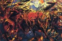 FUTURISMO / CORRIENTE ABSTRACTA. Nace en Milan impulsado por Filippo Tommaso Marinetti. Su antecedente es el cubismo. Su intención de expresar en el arte el avance dinámico del siglo XX. Proclama el rechazo frontal al pasado y a la tradición, defendiendo un arte anticlasicista.