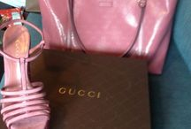 Lovely color / Gucci pink purse and shoes !!