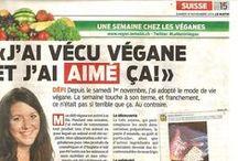 Végéta*isme + droits des animaux et les médias suisses / Regroupement d'articles/reportages sur le végétalisme, végétarisme et véganisme en Suisse.