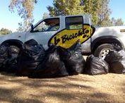 LIMPIEZA RINCON DE CAYA. / Recogida de basuras en Rincon de Caya / Badajoz