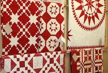 QUILTS  : ROUGE & BLANC - RED & WHITE QUILTS