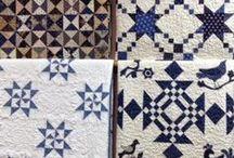 QUILTS BLEU & BLANC - BLUE & WHITE QUILTS / J'aime bien les quilts bicolores