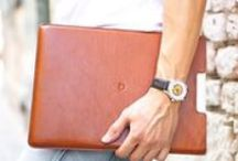 """Leather MacBook Air 13"""" Sleeve / Handmade from the finest Italian leather with a natural velour lining and easy access to your MacBook. The highlighted edges of our leather sleeve will also correspond perfectly with the contours of your MacBook."""