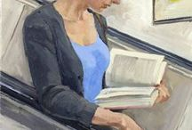 Painters fascination for women who read / Paintings of all over the planet, from different times, periods depecting women reading.