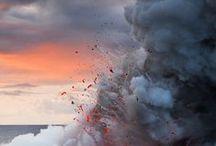 Sky and Volcano